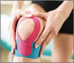 Taped knee