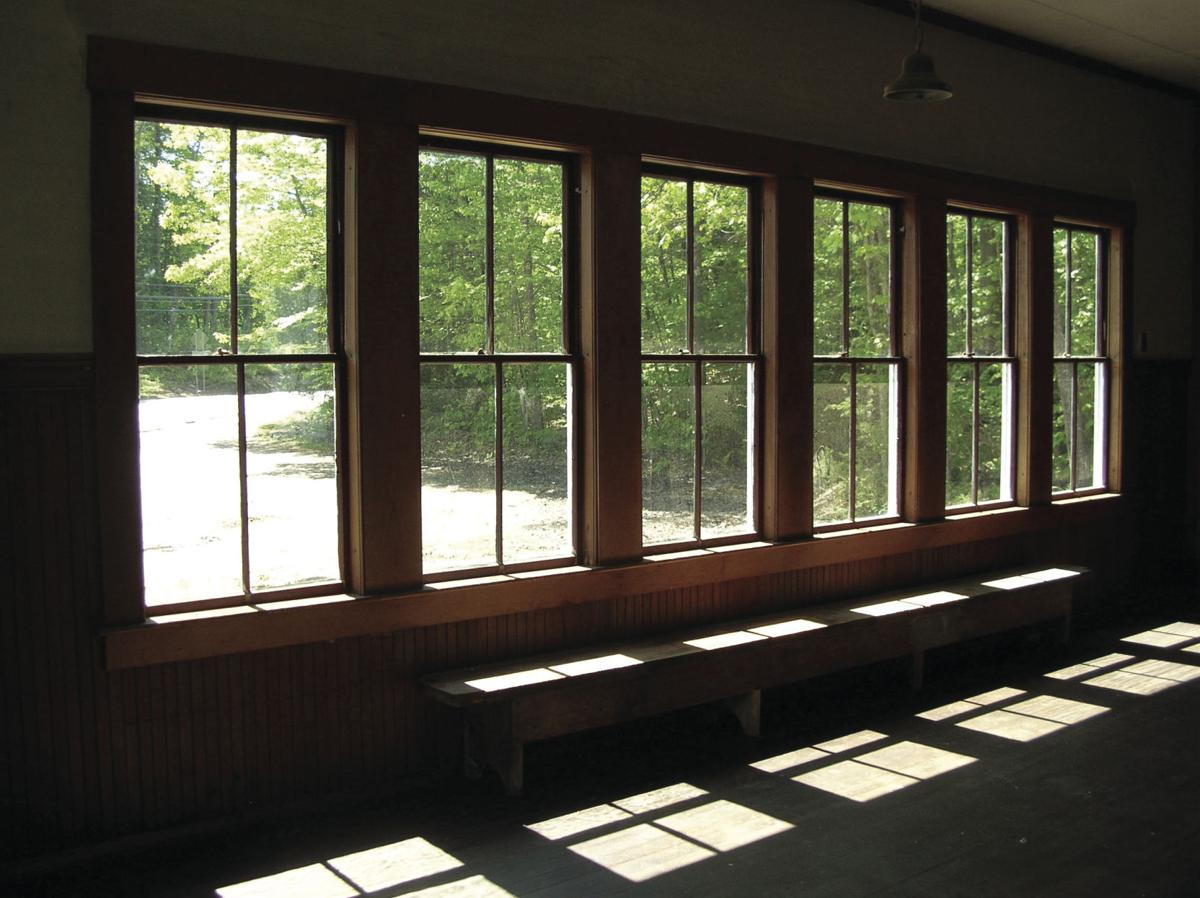 Center Harbor Town House school benches