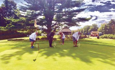 Tennis golf tournament