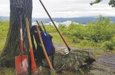 Squam trail work