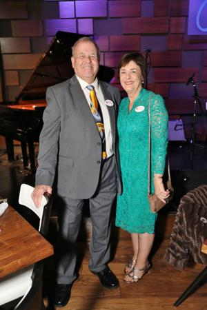 Dr. Lewis Wall, Board President, and Helen Wall