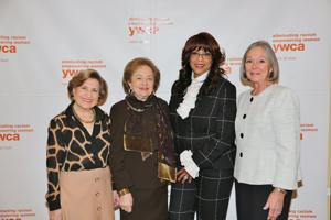 Lenore Pepper, Marilyn Fox, honoree Thelma Steward, Carol Voss