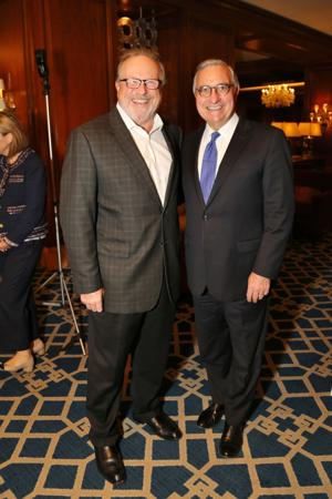 Mark Lombardi, President of Maryville University, Jack Galmiche President and CEO Nine Networks