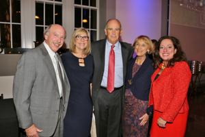 Bob and Colette Levy, Jim and Cathy Berges, honorees, Elizabeth Mannen