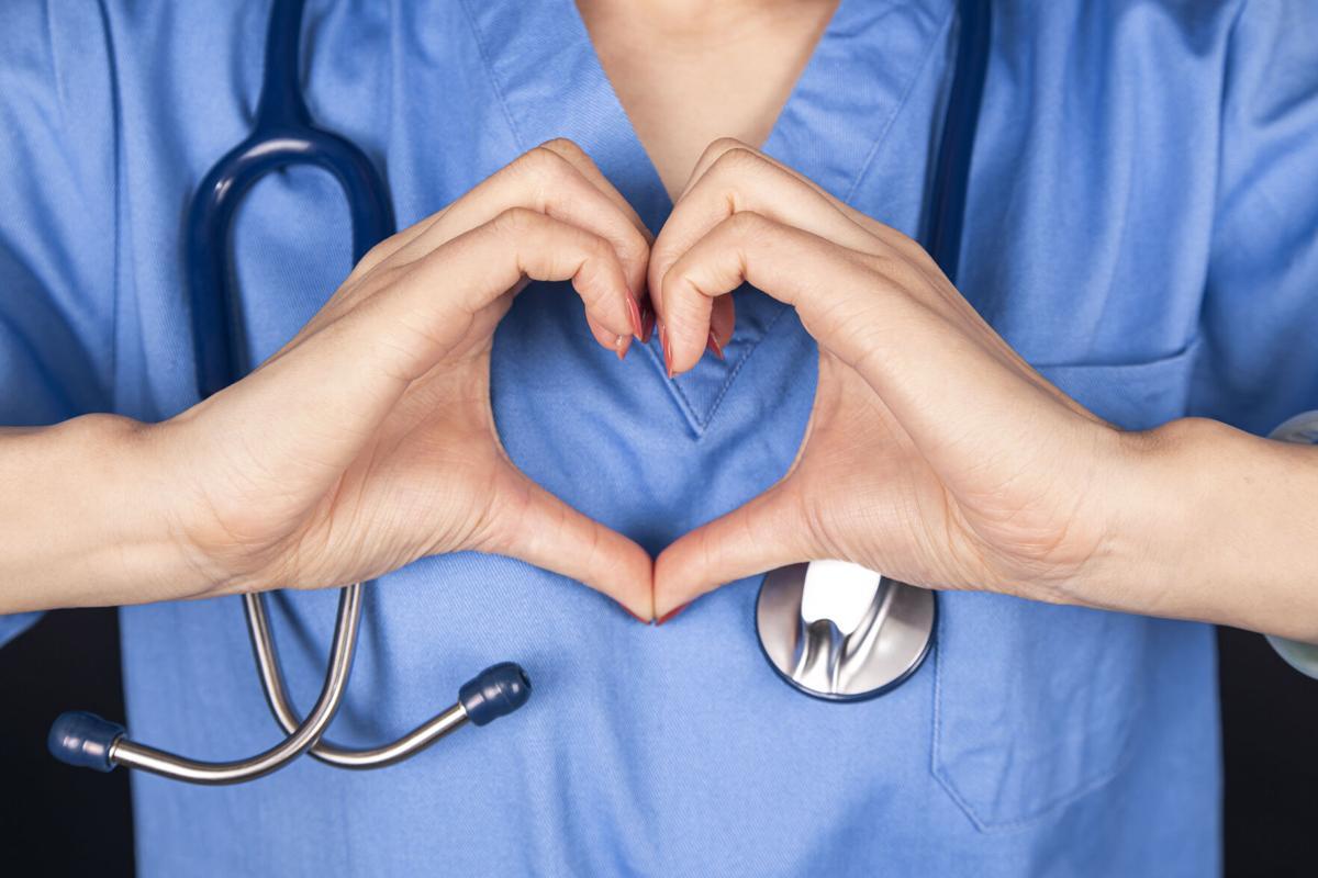 heart shape:doctor love patients