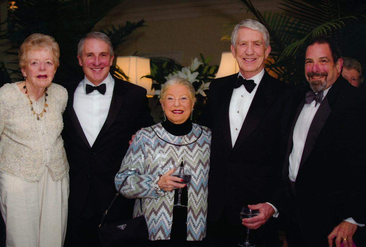 Phyllis Brissenden with former General Directors Richard Gaddes and Charles MacKay, Sally Levy, and Mont Levy.jpg