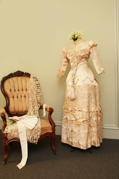 Wedding dress, 1879