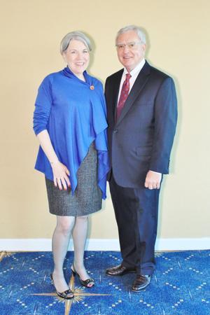 Mary Burke (CEO Academy of Science ), Benjamin Hulsey (Board President)