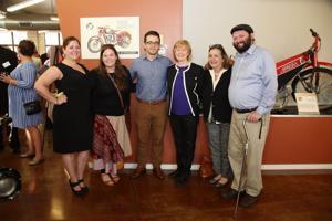 Paige Bloom-Ellis, Maggie Ellinger-Locke, Martin Ellinger, State Representative Deb Lavender, Linda Locke, Eirik Cheverud