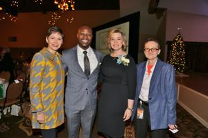 Penny Pennington, Yinka Faleti, Toby Johnson honoree, Ellen Theroff