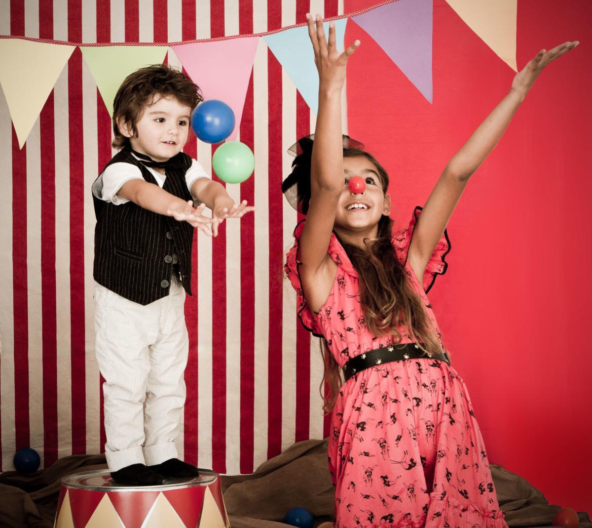 Cute circus performance