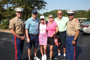 Capt Erik Andrew, Cody Cripps, Hillary Crips, Laurie and Bill Fraz, MSgt Jose Vasquez