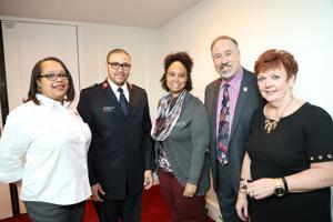 Charity Powell, Daniel Simmons, Shawndell Williams, Larry Hostetler, Christine Herbert