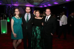 Chiara and Dan Peterson, Hannah and Jon Peterson