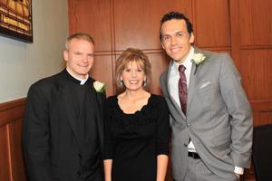 Fr. Mike Boehm, Susie Eckelkamp , Ben Voss