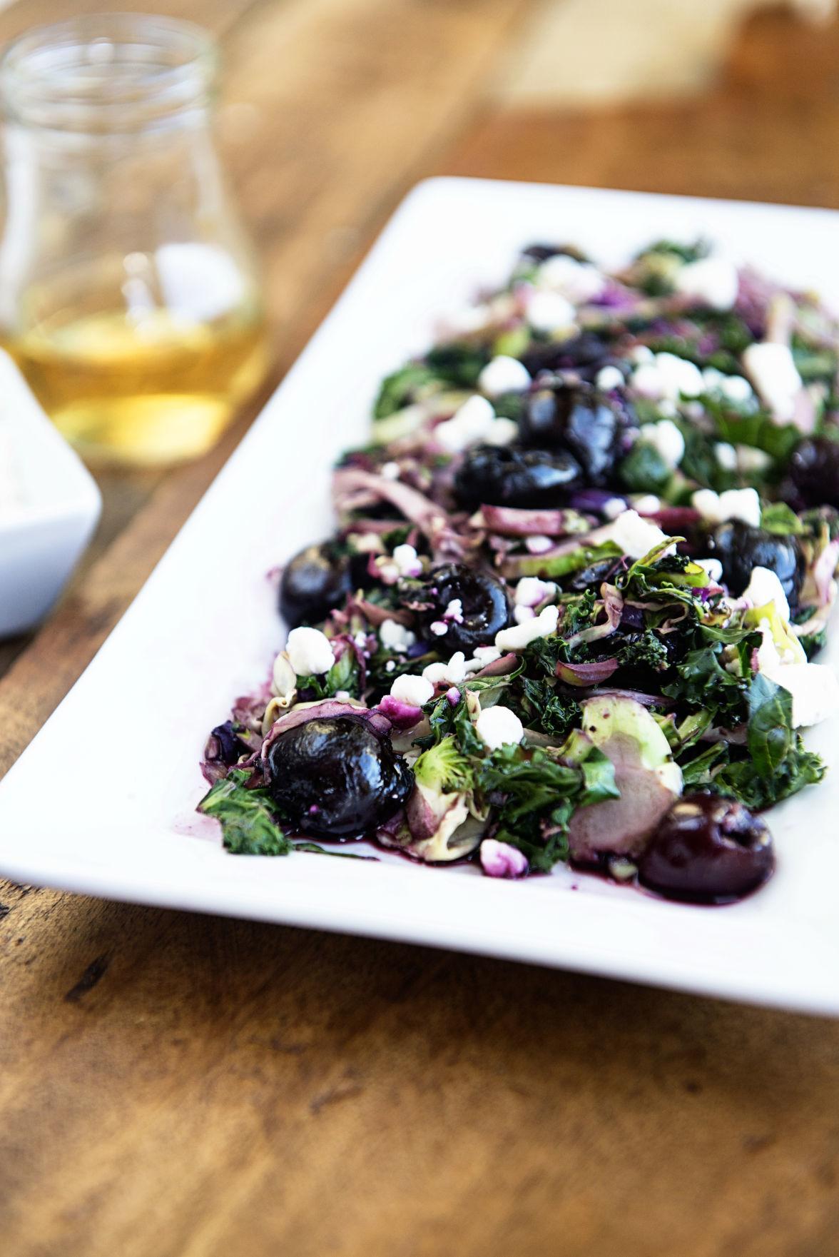 Wilted Salad Greens with Cherry Glaze 5.jpg