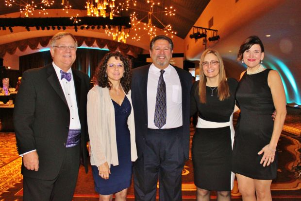 Dr. Bruce Bacon, Mike and Mary Ann George, Leisa Duff, Hollee Prouty