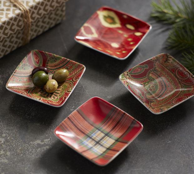 2 Pottery Barn Multi Pattern Snack Bowls, Set of 4.jpg