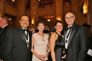 Richard and Melissa Mark, Cindy and Warner Baxter