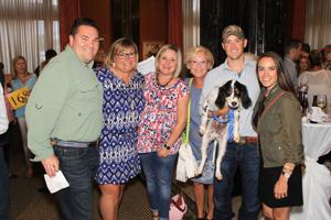 Justin Fowler, Candace Hyams, Julie Fowler, Connie Finger, Ruger the Pup, Joe Finger, Lindsay Finger
