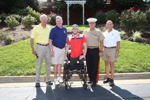 Gen James T. Conway, Dr. Howard Short, Cpl Kyle Moser, Gen Robert B Neller, Allen Allred