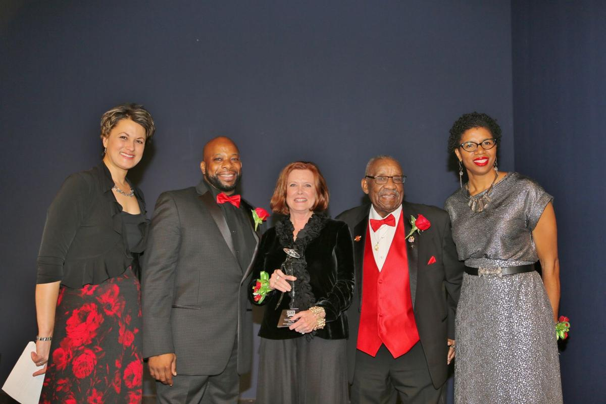 Debbie Monterrey, Wendell Covington, Jr., Mary Hill honoree, Martin Luther Mathews, Debra Bass