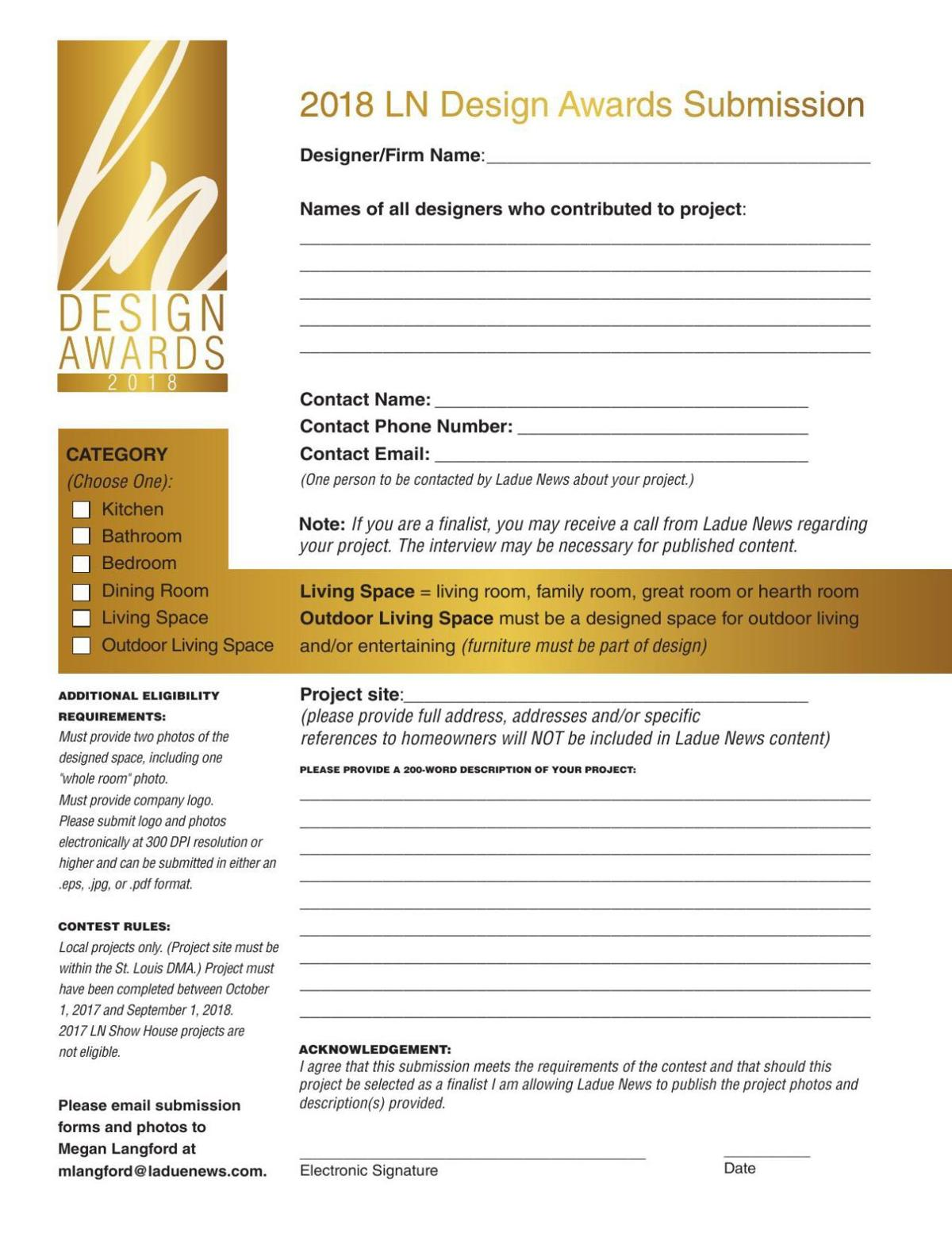 LN Design Awards Application