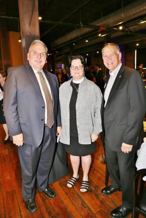 Joe Goldone, Rev. Kathie Adams Shepard, Andy Daus