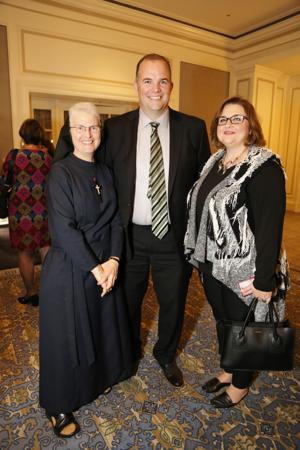Sister Marie Paul Lockerd, RSM, DO, Brian Niebrugge, Elisabeth Westhoff
