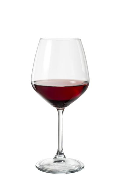 Red wine in an elegant glass