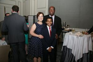 Rachel and Patrick with Speaker Benjie Thimangu