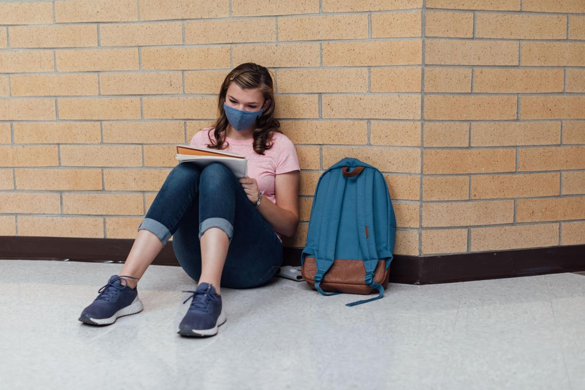 High School Student Studying during COVID-19