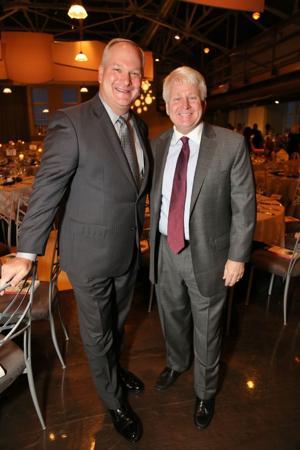 Jim Mather, Board Chair, Bernie Schweiss, Past President