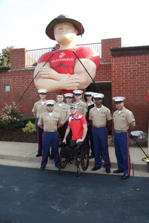 Marines with Cpl Kyle Moser
