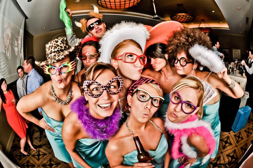 Photo booths smiles all around weddings for Fish eye fun