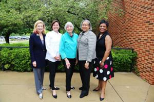 Dr. Nancy Bobrow, Marian Nunn, Joni Karandjeff, Ida Early, Dr. Gwendolyn