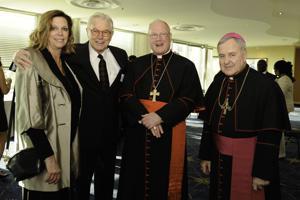 Jan Lefholz, Norbert Siegfried, Cardinal Timothy Dolan,and Archbishop Robert Carlson