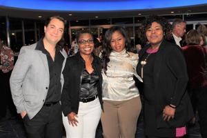 Jordan McGirk, Rhonda Gray (Executive Director), Michelle Taylor, Karona Wilson (Honorees)