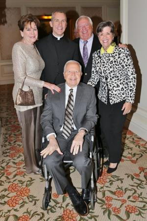 Denny and Susan O'Leary, Msgr. Michael Butler, Dick and Mary James