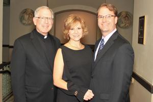 Msgr. Vernon Gardin, Michelle and Jamie Wright