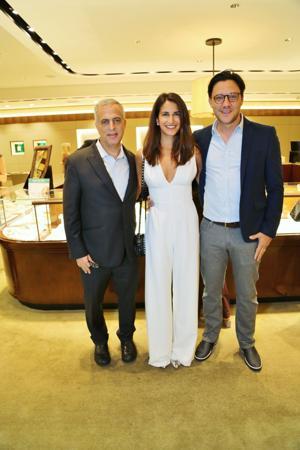 Mark Emanuel co-owner David Webb Jewelry, Tlai and Josh Katz