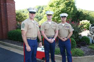 SgtMaj Jon Jerome, 1StLt Phil Lovge, MSgt Carrol William