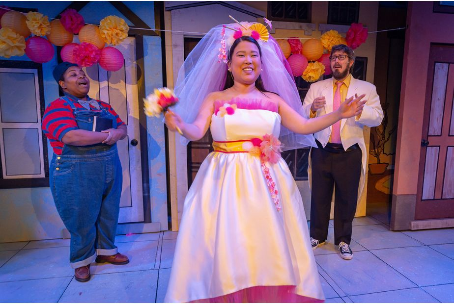 Grace Langford (in wedding dress) starring in Avenue Q.png