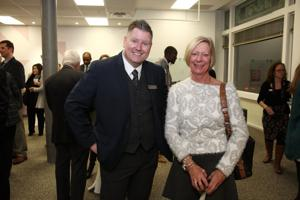 Manager of Programs and Grants Matthew Kerns, Board Member Caren Vredenburgh