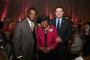 Lou Brock, Dr. Katie Wright, Michael McMillan
