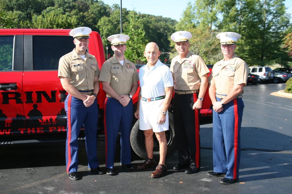 Capt Eric Andrew, MSgt Ian Duncan, Allen Allred, LtGen Mike Dana, LtCol Mike Fitts