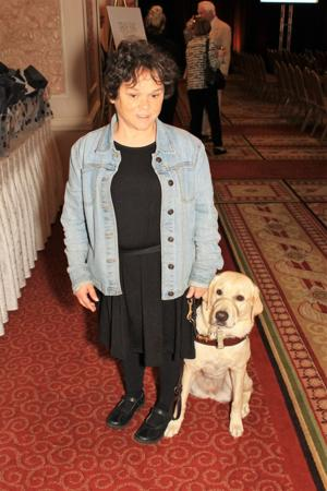 Stephanie McDowell and Japan, her guide dog