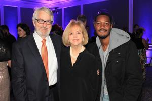 Mike Owens, Mayor Lyda Krewson, Aaron Bounds (Academy participant)