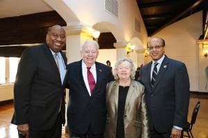 Michael Burns, Steve and Karen Barney, Dr. Mulugheta Teferi