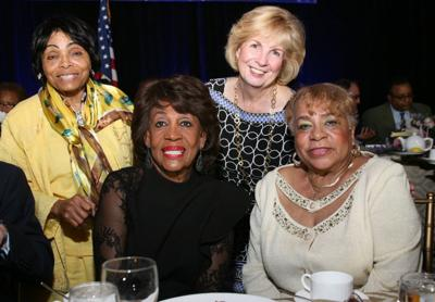 Former State Rep Betty L Thompson, Congresswoman Maxine Waters, STL County NAACP President Esther Haywood, , Kathy Osborn